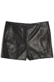 T By Alexander Wang Leather Short - Lyst