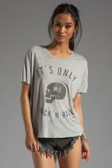 Zoe Karssen Box Fit Mc Rock N Roll Tee in Grey Heather - Lyst