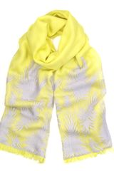 Ahilya Yellow Merino Palms Scarf
