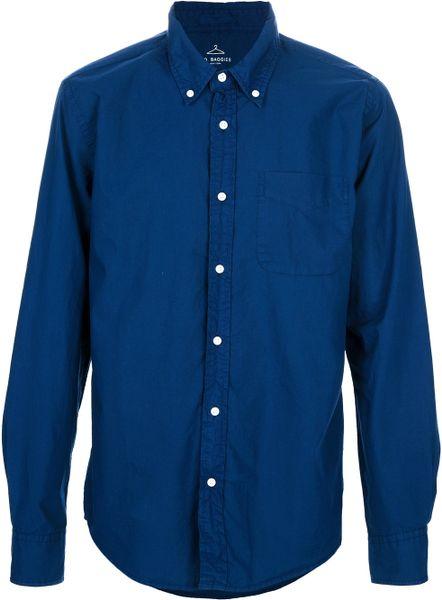 B D Baggies Button Down Shirt In Blue For Men Navy Lyst