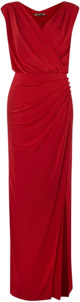 Biba Wrap Maxi Dress with Button Detail - Lyst