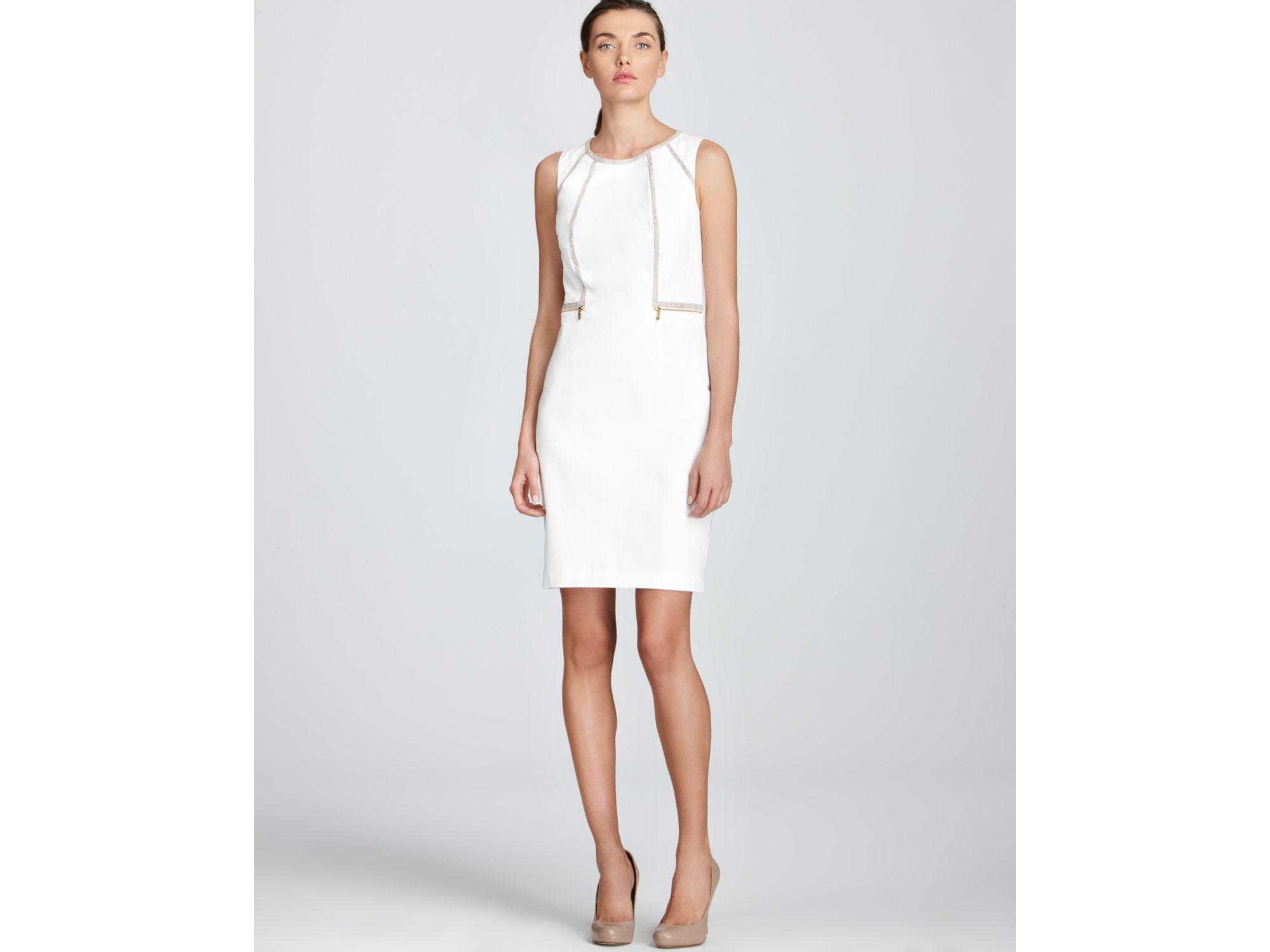 6f3ac6dbcc496 Calvin Klein White Dress - Dress Foto and Picture