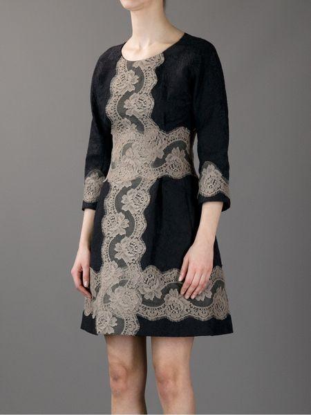 Dolce Amp Gabbana Lace Dress In Black Lyst