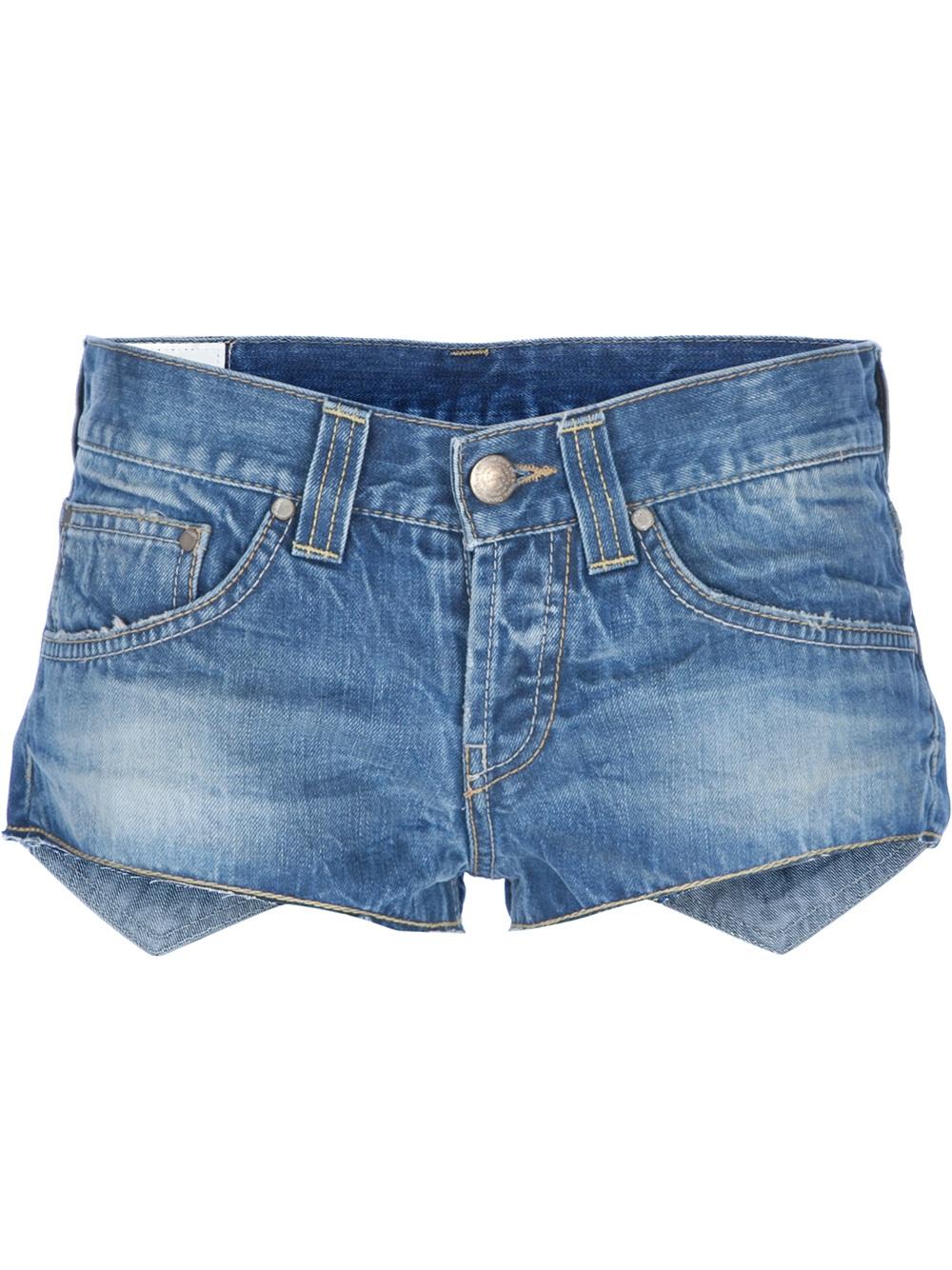 denim micro shorts - photo #1