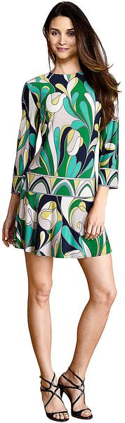 Donna Morgan Threequarter Sleeve Dress - Lyst