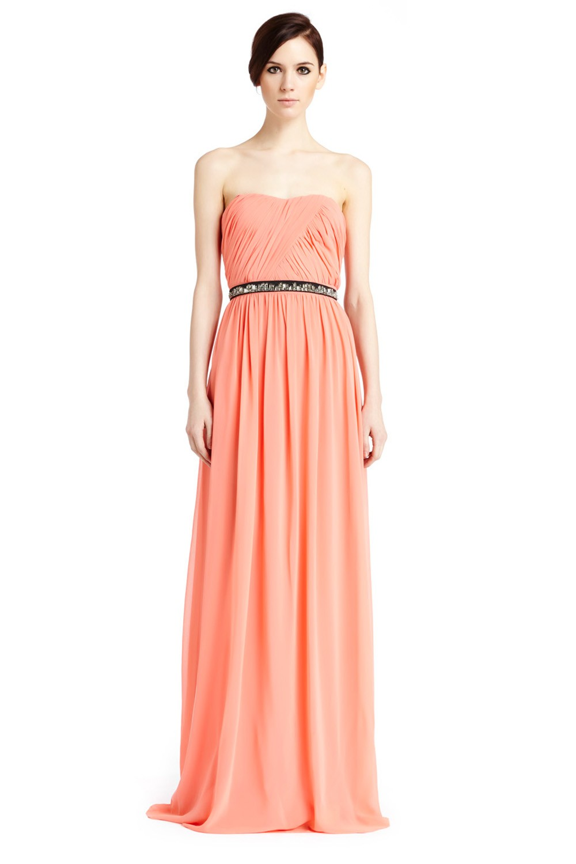 Erin Fetherston Skyscraper Gown In Orange Coral Lyst