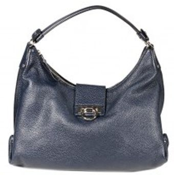 Ferragamo Fanisa Hammered Leather Hobo - Lyst