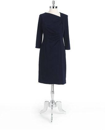 Kay Unger Front Drape Dress - Lyst
