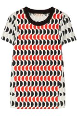Marni Printed Cottonjersey and Cottoncanvas T-shirt - Lyst