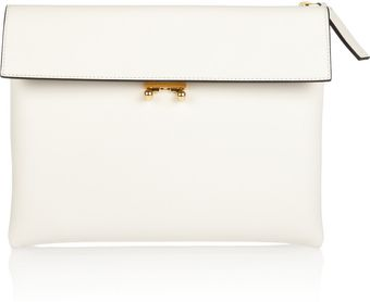 Marni Leather Clutch - Lyst