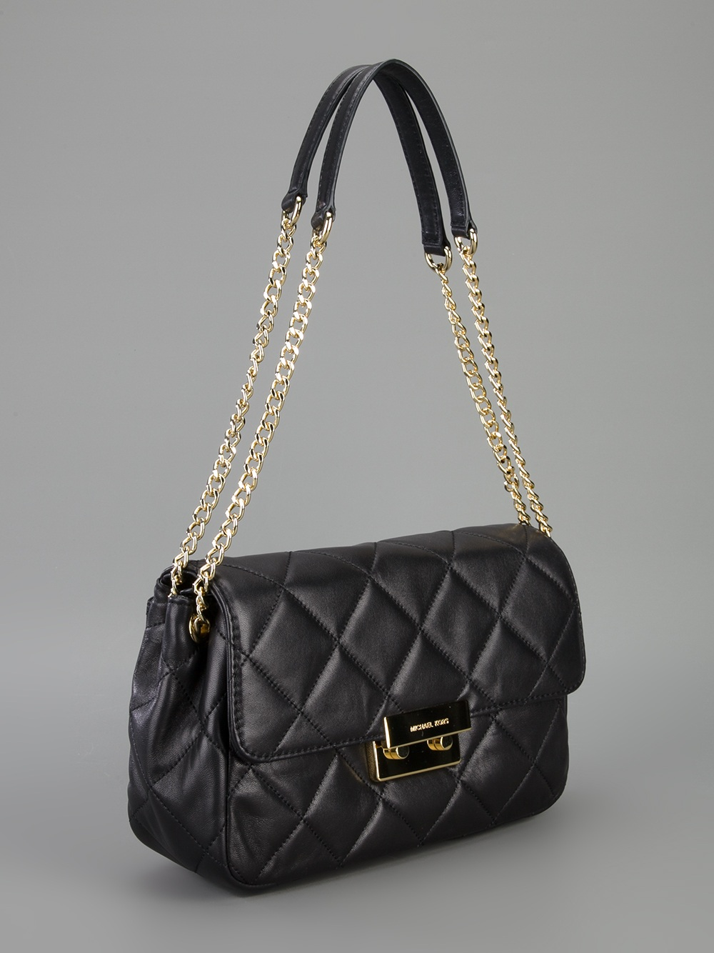 Michael Michael Kors Quilted Chain Shoulder Bag In Black