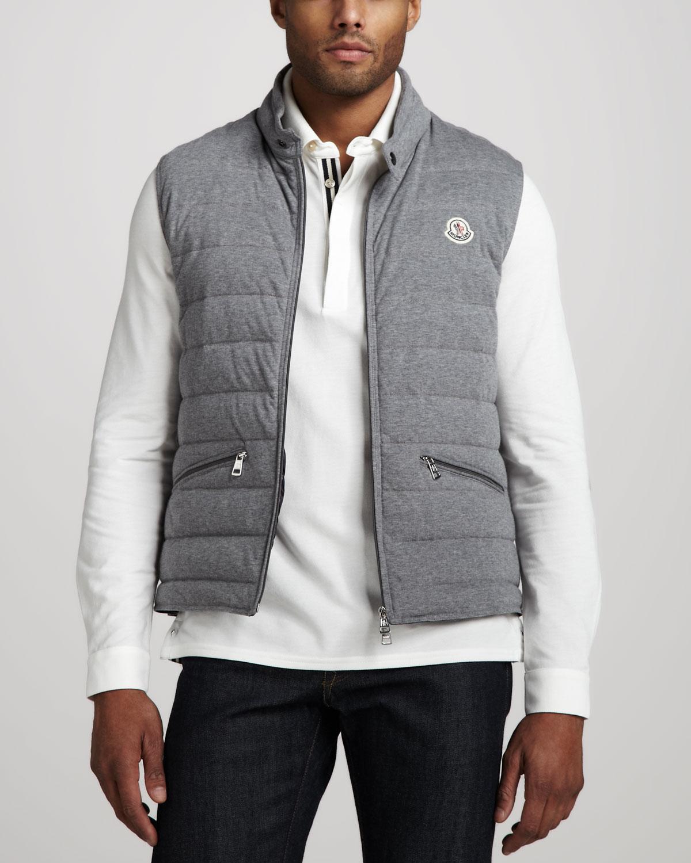 Hot Moncler Men Vests - Clothing Moncler Cotton Puffer Vest Gray Grey