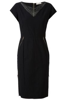 Nina Ricci Stretch Cotton and Lace Pencil Dress - Lyst