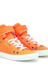 Pierre Hardy Gum Neon Hightop Sneakers