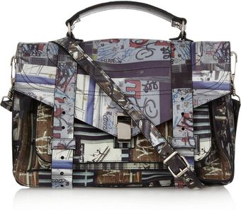 Proenza Schouler Ps1 Medium Printed Leather Satchel - Lyst
