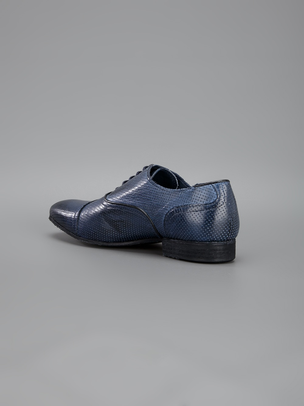 Roberto Cavalli Laceup Oxford Shoe In Blue For Men | Lyst