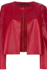 Simonetta Ravizza Leather Jacket - Lyst