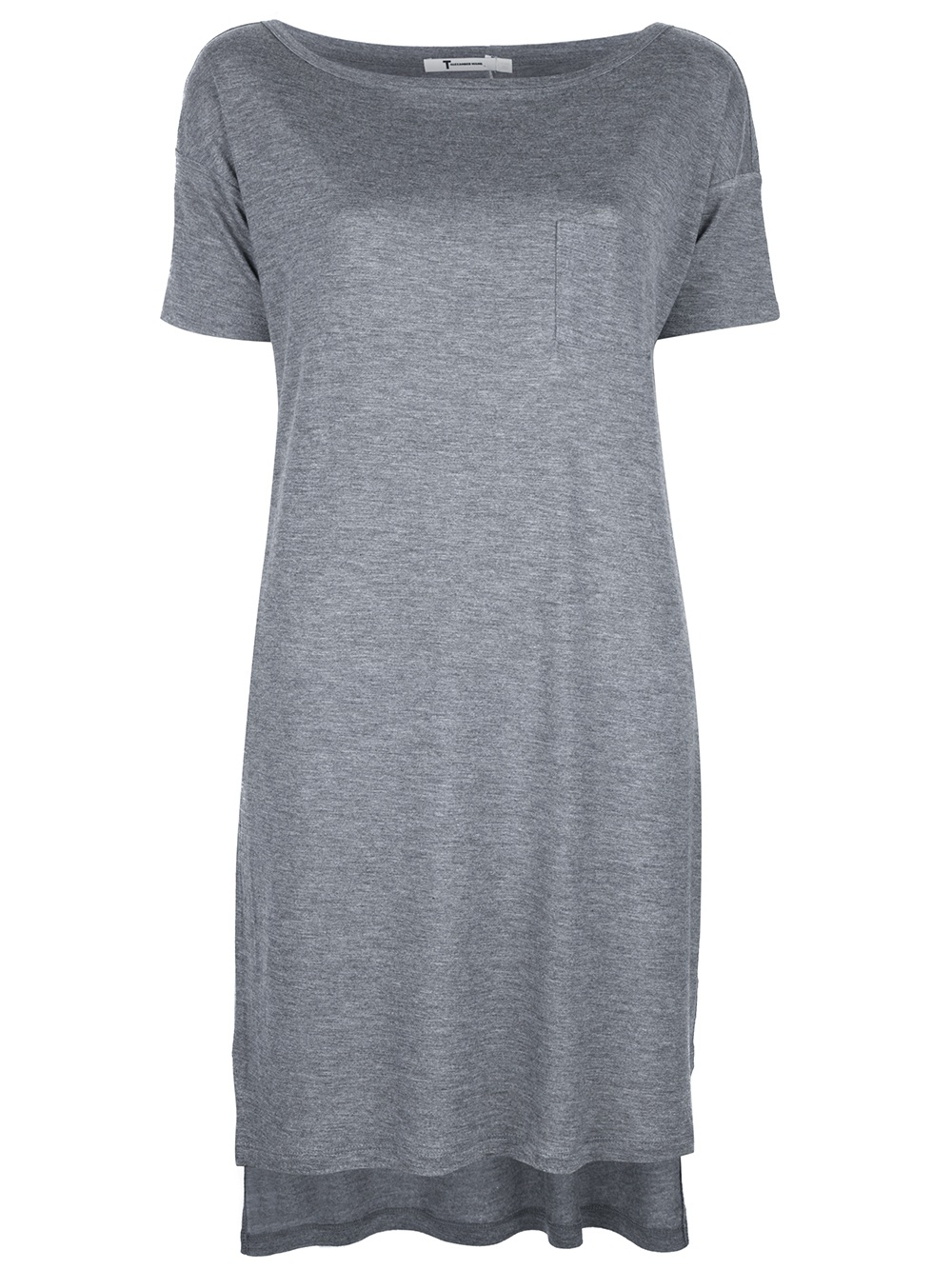 T by alexander wang t shirt dress in gray grey lyst for T by alexander wang t shirt