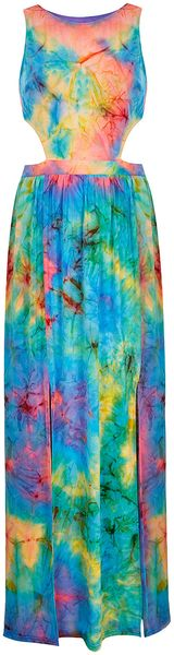 Topshop Tie Dye Maxi Dress By Rare - Lyst