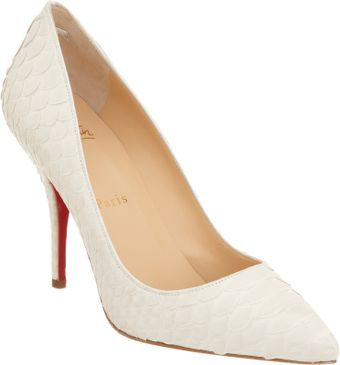 Christian Louboutin Python Pin Toe Pumps - Lyst