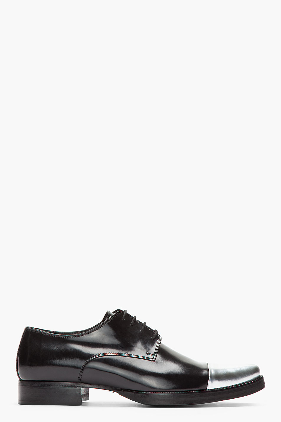 Lyst Dsquared 178 Black Silver Cap Toe Derby Leather Dress