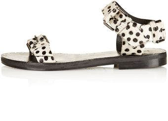 Topshop Faster Two Part Stud Sandals - Lyst