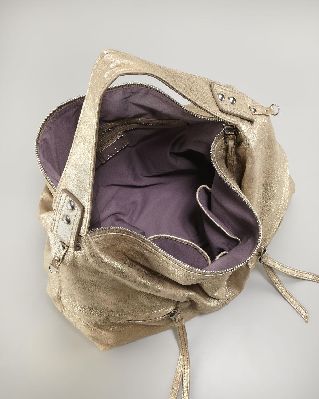 Kooba Crosby Metallic Hobo Bag in Metallic