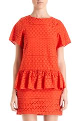 Thakoon Addition Short Sleeve Decorative Eyelet Dress - Lyst