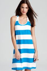 Tommy Bahama Big Stripe Short Tank Swim Coverup Dress - Lyst
