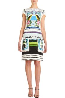 Mary Katrantzou Bird Print Cap Sleeve Dress - Lyst