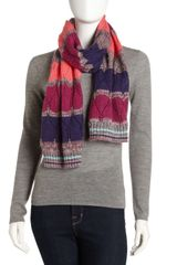 Missoni Largezigzag Knit Scarf - Lyst