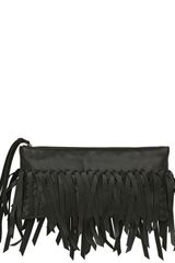 Bottega Veneta Woven Fringed Nappa Leather Clutch