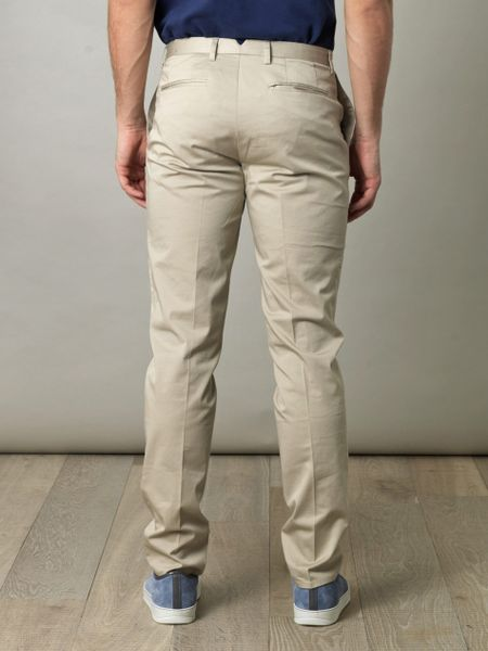 Brooks Brothers Marco Cotton Trousers In Beige For Men