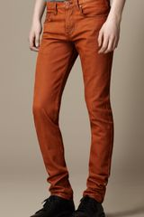 Burberry Shoreditch Coated Colour Skinny Fit Jeans
