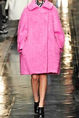 Carven Mohair Worsted Wool Oversize Coat in Cotton Candy Pink in Pink (cotton candy) - Lyst