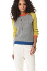 Cut25 By Yigal Azrouël Waffle Knit Block Sweater - Lyst
