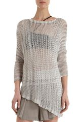 Helmut Lang Marled Knit Oversized Sweater