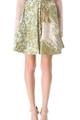 J. Mendel Box Pleat Skirt - Lyst