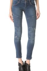 James Jeans Low Rise Motorcycle Legging Jeans - Lyst