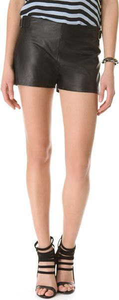 L'Agence Lined Shorts with Buckles - Lyst