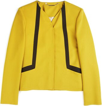 Matthew Williamson Winter Crepe Boxy Jacket in Moss - Lyst