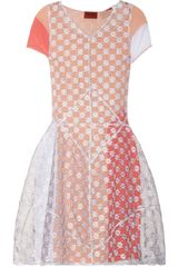 Missoni Embroidered Layered Stretch-Mesh Dress