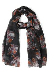 ModCloth Dome Grown Scarf in Black
