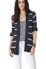 Splendid French Riviera Stripe Cardigan - Lyst