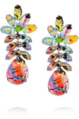 Tom Binns A Riot Of Color Glow in the Dark Swarovski Crystal Earrings - Lyst