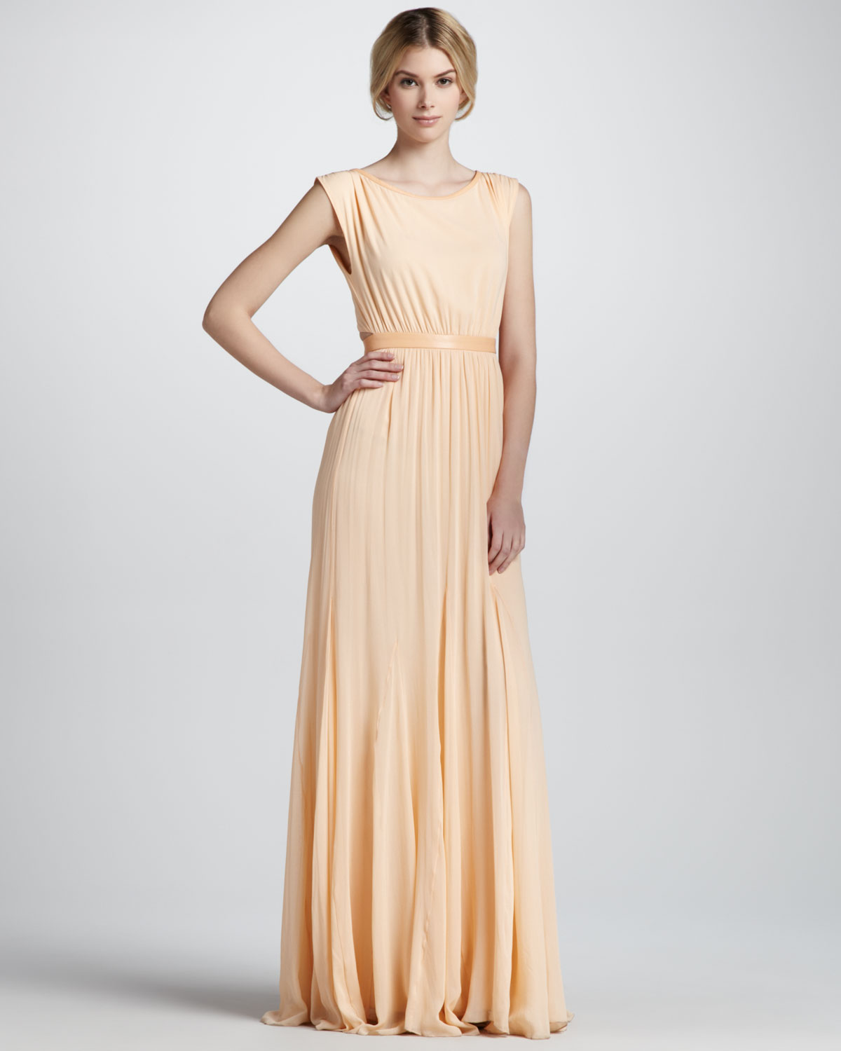 6f2fd97488 Alice + Olivia Triss Belted Maxi Dress in Natural - Lyst