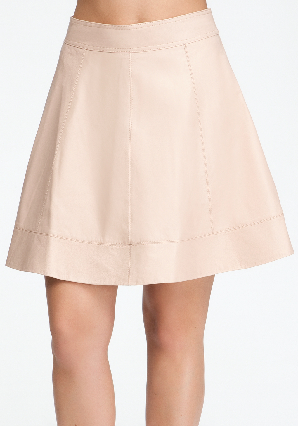 bebe leather circle skirt in lyst