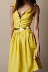 Burberry Brit Textured Silk Dress - Lyst