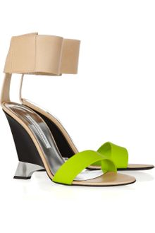 Diane Von Furstenberg Elan Leather and Rubber Wedges - Lyst
