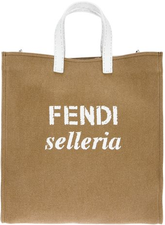 Fendi Selleria Shopping Tote - Lyst